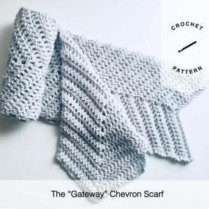 The Gateway Chevron Scarf Free Crochet Pattern
