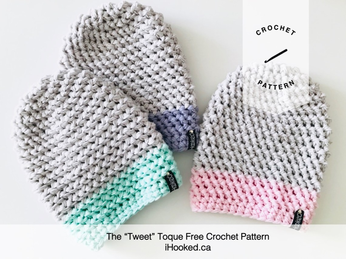 tweet toque free crochet pattern