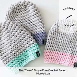 tweet toque free crochet pattern