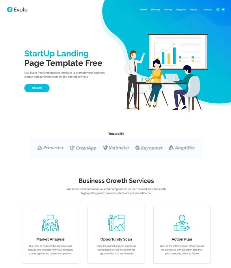 Free Static Website-Evolo