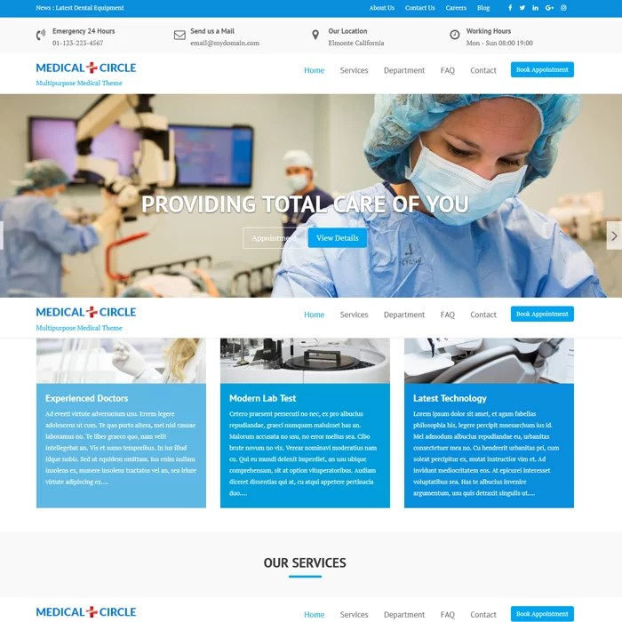 Beautiful Hospital Website – Medical
