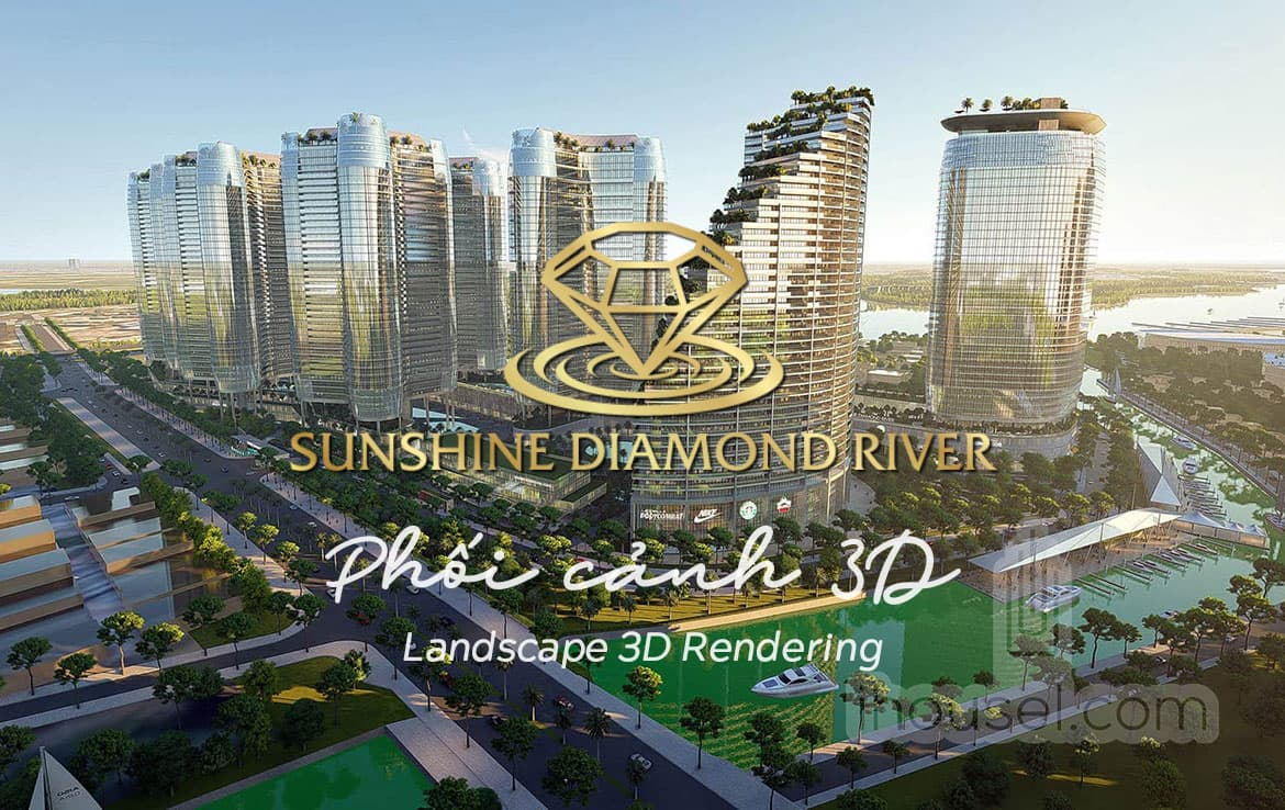 Phối cảnh 3D Sunshine Diamond River - Landscape 3D Rendering Sunshine Diamond River