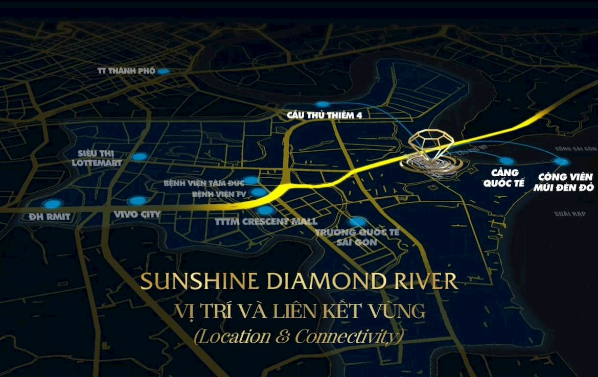 Vị trí Sunshine Diamond River Quận 7 - Location of Sunshine Diamond River District 7