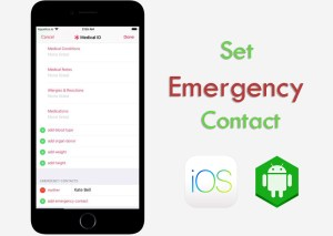 how to put emergency contact on any samrtphone