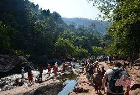 Dudhsagar Waterfall in Goa, India