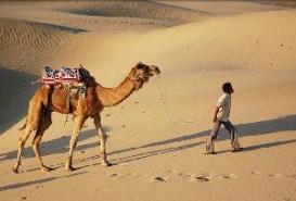 Khuri Sand Dunes in Jaisalmer in Rajasthan