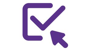 Subscribe, a pointer pointing at an envelope with a tick symbol