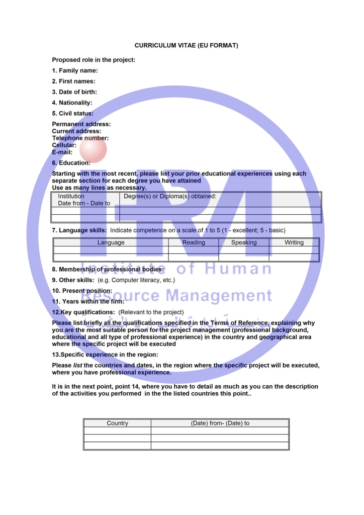 IHRM     CV    Cover