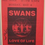 Swans-Tour-Poster On Tour + Posters - Swans