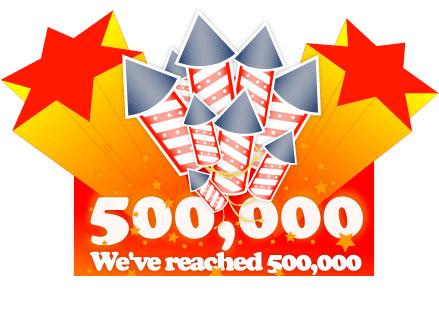 500 Half a million hits for I Heart Noise!