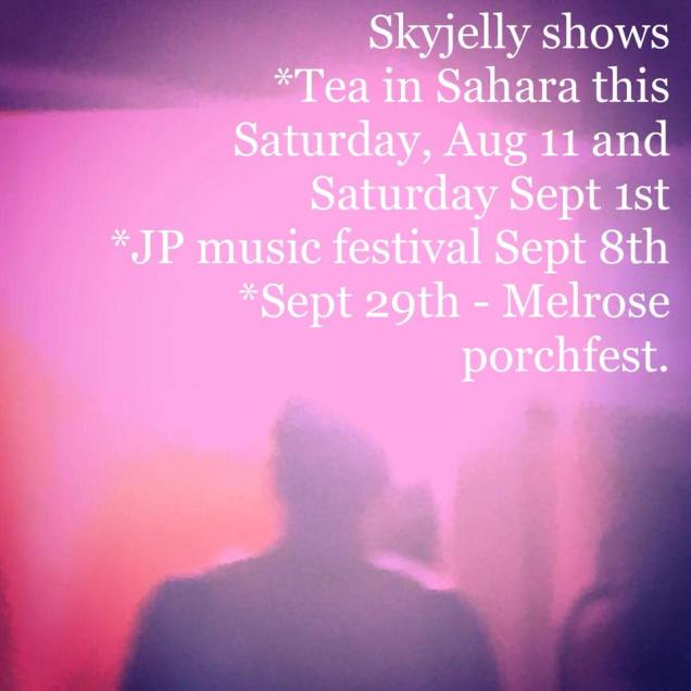 Skyjelly-Poster Upcoming Shows - Boston/Providence/NYC: August 2018