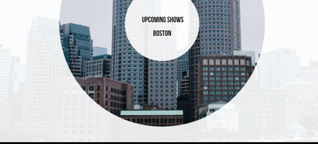 Upcoming Shows Boston