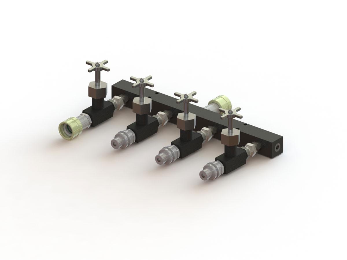 IHS Flow Control Valve Manifold, 7-Port