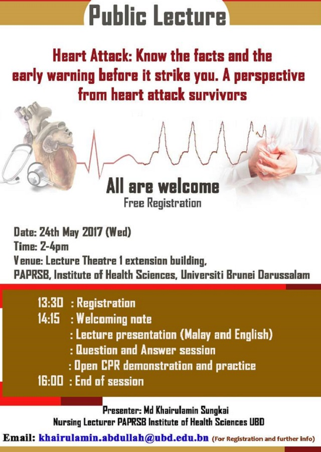 Heart Attack 2017 Public Lecture Poster