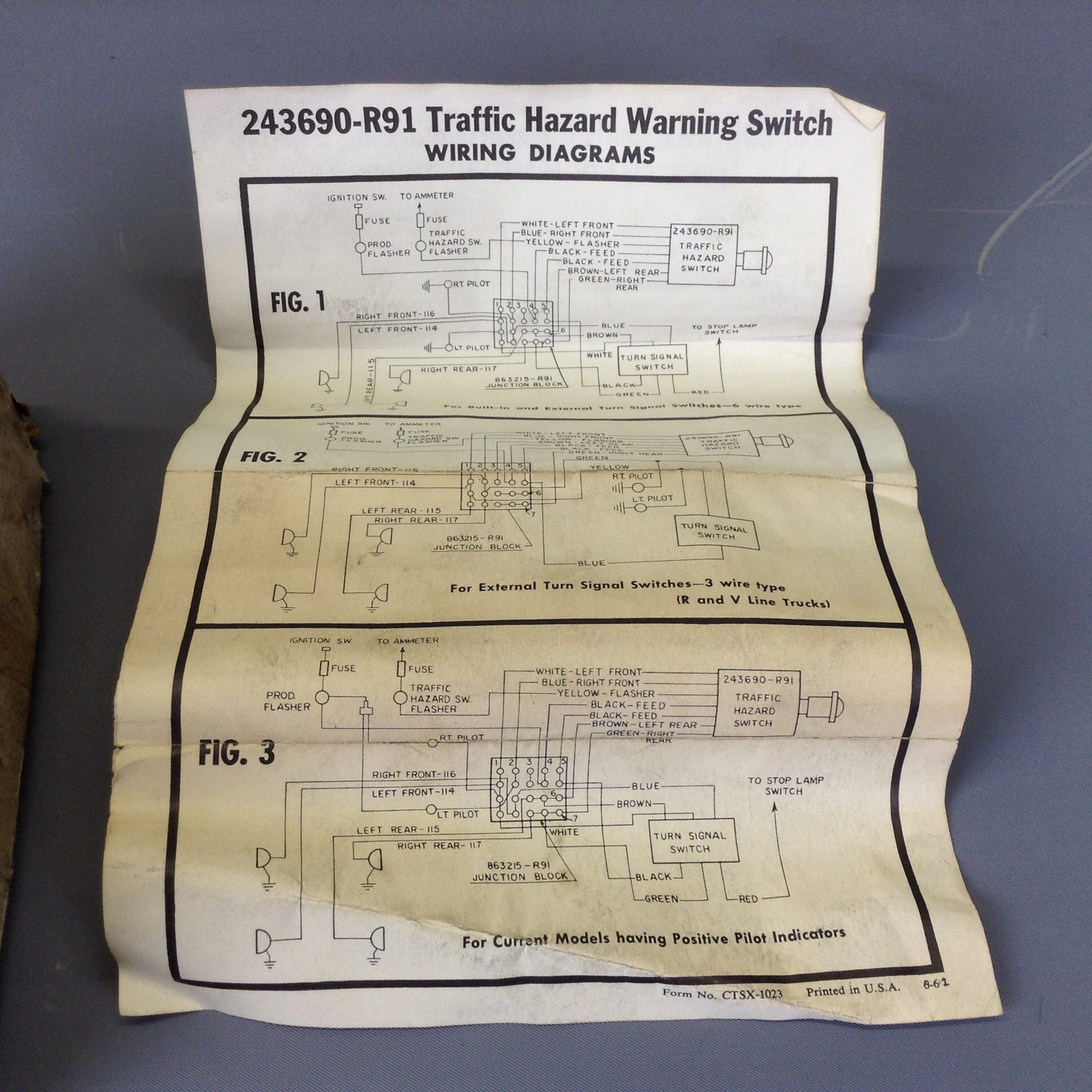 hight resolution of nos scout 80 800 truck travelall 4 way flasher kit