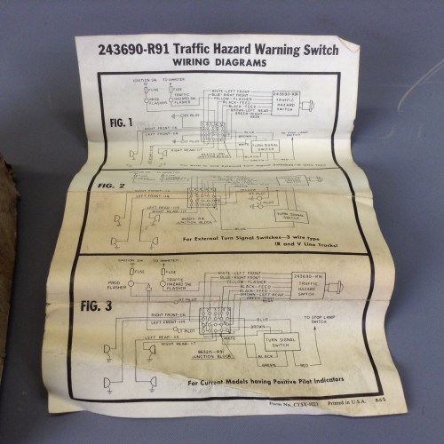 small resolution of nos scout 80 800 truck travelall 4 way flasher kit
