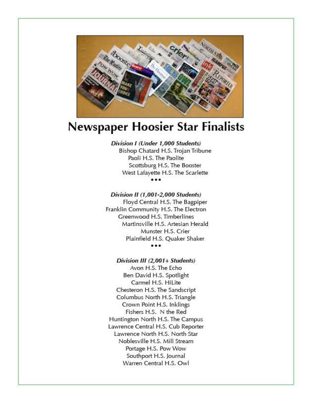 Hoosier Star Finalists 2013