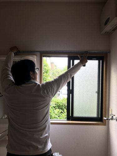 軽量鉄骨造戸建ての改修工事前の採寸&調査