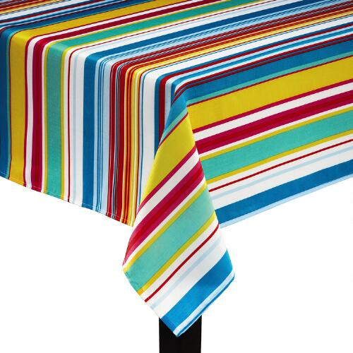 Fiesta Striped Tablecloth Christmas Tree Shops AndThat