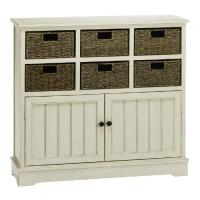White 6-Basket Storage Cabinet | Christmas Tree Shops andThat!