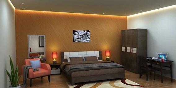 Modern Bedroom Designs Online Squashed Orange Design For Bedroom Online Pepperfry Bespoke