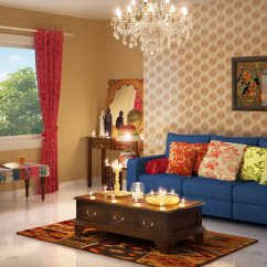 Traditional Indian Living Room Designs Standard Window Size Ethnic Online Swirl Design Oritz Lhs Three Seater Sofa With Lounger And Cushions In Teal Blue Colour By Casacraft