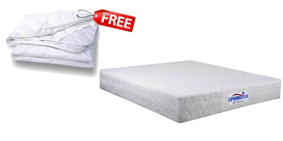 Guardian Queen Size 10 Inch Memory Foam Pocket Spring Mattress Free Protector By