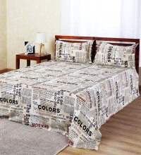 Buy Aapno Rajasthan White Cotton Newspaper Double Bed