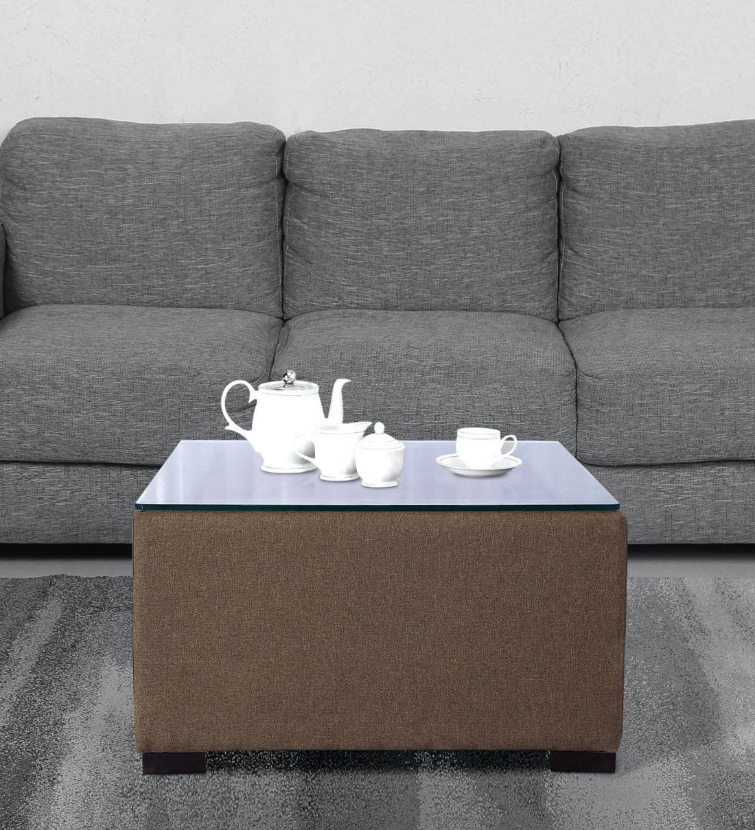 Buy Alvin Upholstered Center Table In Light Brown Colour By Muebles Casa Online Square Coffee Tables Tables Furniture Pepperfry Product