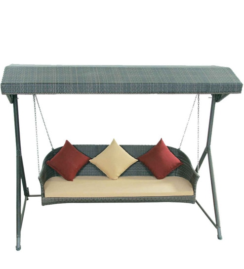 swing chair with stand pepperfry how much is a gaming buy three seater by alcanes online swings outdoor furniture