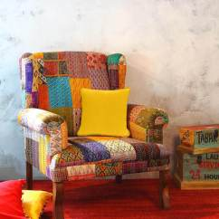 Tub Fabric Accent Chair Patchwork Paisley Buy Jermaine With Silk In Sheesham Wood By Bohemiana Online Chairs Pepperfry