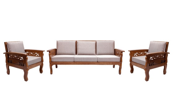 colonial sofa sets contemporary modern living room sofas buy amherst teak wood set 1 seater 3 in natural finish by amberville online pepperfry