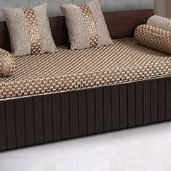 Sofa Set In Indian Style Pet Protector Buy Aster Elegant Cum Bed Walnut Finish By Arra ...