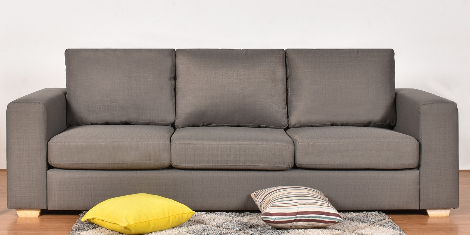 atlas comfy three seater sofa in grey colour