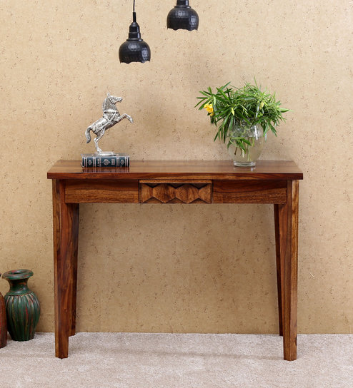 teak sofa table harden prices buy avilys solid wood console in provincial finish by woodsworth online contemporary tables furniture pepperfry