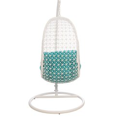 Swing Chair With Stand Pepperfry Made To Order Chairs Buy Bay In White Blue Colour By Hometown Online Click Zoom Out Explore More From Furniture
