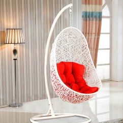 Swing Chair With Stand Pepperfry Unique Bar Chairs Buy Begonia In White Red Finish By Hometown