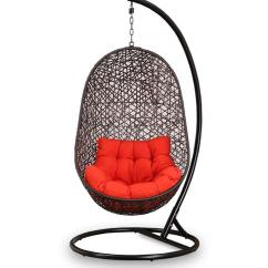 Swing Chair With Stand Pepperfry Cheap Kid Table And Sets Buy Begonia Orange Cushion In Brown Frame By Click To Zoom Out Explore More From Furniture