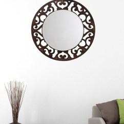 Living Room Wall Mirror Height Antique Dresser In Buy Martha Round By Aasra Online Eclectic Mirrors Furniture Accents Pepperfry Product