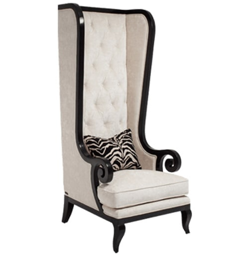 tall back chairs animal rocking chair buy classic wing with button tufted in ivory we are sorry but this item is out of stock