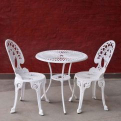 Two Seater Garden Table And Chairs Gaiam Balance Ball Chair Exercises Buy Country Classic Antique Victorian Style Set In White Colour By