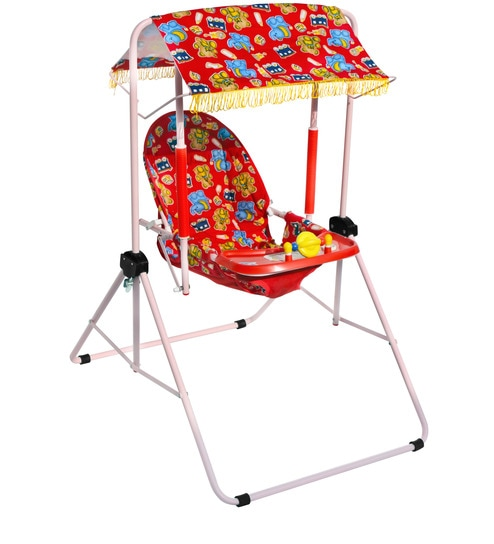 swing chair with stand pepperfry patio chairs set of 2 buy cozy room baby in red colour by natraj online high kids