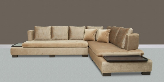 velvet sofa fabric online india flexsteel chicago double reclining buy corner with in brown colour by star