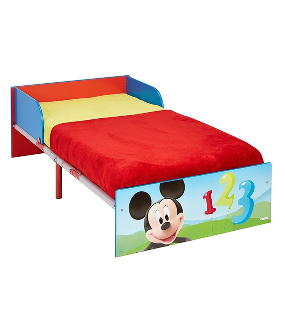 disney mickey mouse toddler bed in red blue colour