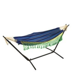 Swing Chair With Stand Pepperfry Tall Gaming Swings Hammocks Buy Chairs For Home Online At Double Canvas Hammock 9ft Steel In Ocen Blue Color