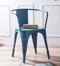 Buy Dotiki Metal Chair in Sky Blue Color by Bohemiana ...