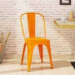 Steel Chair Buyers In India Baby Bum Accent Chairs Buy Online At Best Prices Ekati Metal Orange Colour With Eyelet