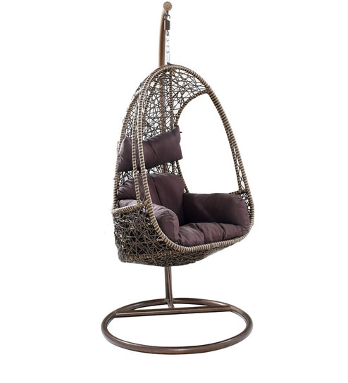 swing chair with stand pepperfry kitchen stuff plus dining chairs buy elegent in brown colour by looking good furniture online we are sorry but this item is out of stock