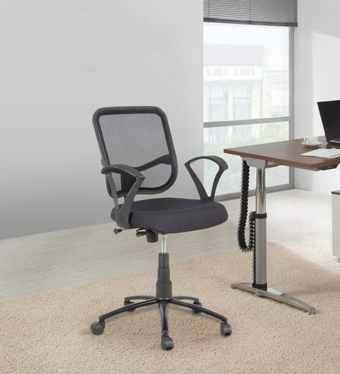 push back chair chairs for showers invalids buy ergonomic mesh backrest office with mechanism by star india online furniture pepperfry product