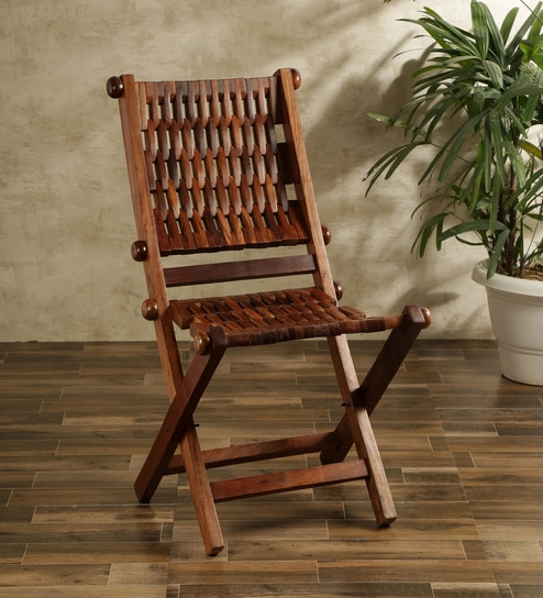 folding chair india light gray buy evira sheesham wood in brown finish by craft art online chairs furniture pepperfry product
